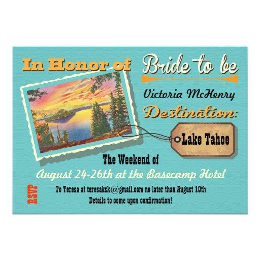 "Bachelorette Getaway Ideas: Bachelorette Weekend Getaway Party Invitations 5"" X 7"