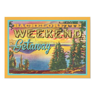 "Bachelorette Weekend Getaway Party Invitations 5"" X 7"" Invitation Card"