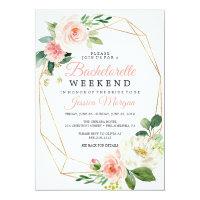 Bachelorette Weekend Itinerary Airy Blush Invitation