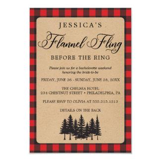 Bachelorette Weekend Itinerary Flannel Fling Invitation