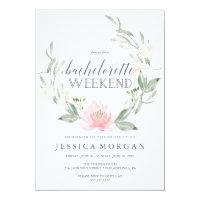 Bachelorette Weekend Itinerary Pastel Blush Invitation