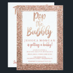 """Bachelorette Weekend Itinerary Rose Gold Invitation<br><div class=""""desc"""">This faux glitter invite will be the perfect start to this memorable bachelorette weekend!  Visit our website for more designs and inspiration: www.creativeuniondesign.com</div>"""