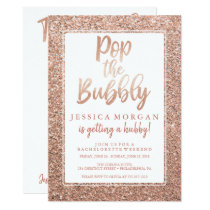 Bachelorette Weekend Itinerary Rose Gold Invitation