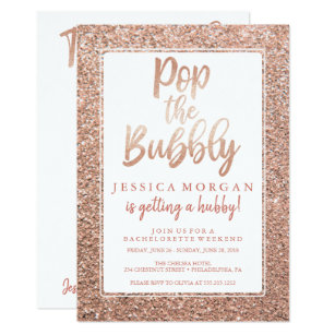 0932adf65315 Bachelorette Weekend Itinerary Rose Gold Invitation