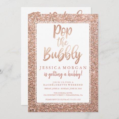 Bachelorette Weekend Itinerary Rose Gold Invitation