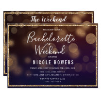 Bachelorette Weekend Lights Invitation
