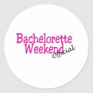 Bachelorette Weekend (Official/Pink) Classic Round Sticker