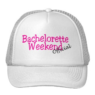 Bachelorette Weekend (Official/Pink) hat
