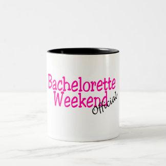 Bachelorette Weekend (Official/Pink) Two-Tone Coffee Mug
