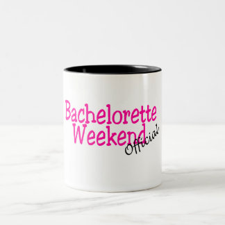 Bachelorette Weekend (Official/Pink) Two-Tone Coffee Mug