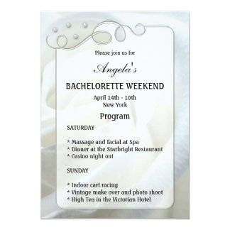 Bachelorette Weekend Program Template Invitation
