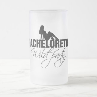 Bachelorette wild party (girl) frosted glass beer mug