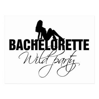 Bachelorette wild party (girl) postcard