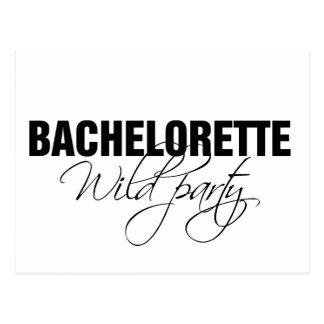 Bachelorette wild party postcard