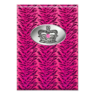 Bachelorette Zebra Jewelry Crown Party Invite Pink