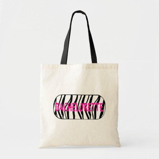 Bachelorette (Zebra Stripes) Tote Bag