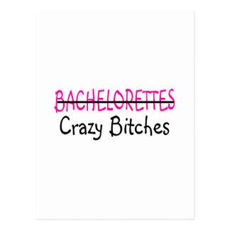 Bachelorettes Crazy Bitches (Bridesmaids) Postcard