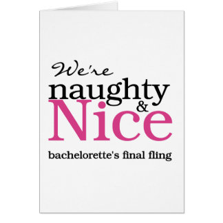 Bachelorettes Final Fling Pink Greeting Cards