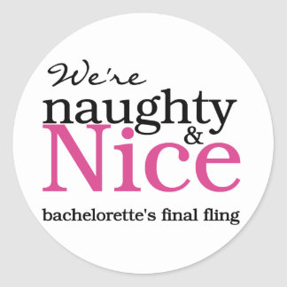 Bachelorettes Final Fling Pink Classic Round Sticker