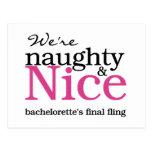 Bachelorettes Final Fling Pink Postcard