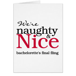 Bachelorettes Final Fling Red Greeting Cards