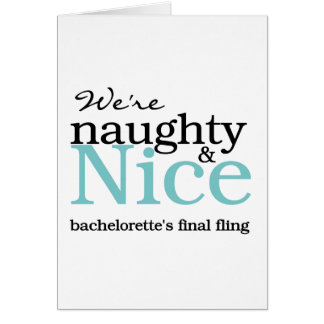 Bachelorettes Final Fling Teal Greeting Card