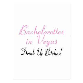 Bachelorettes In Vegas (Pink Black) Postcard