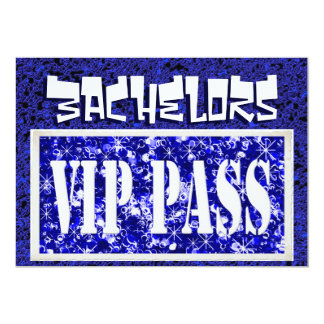 Bachelors blue vip party invitation