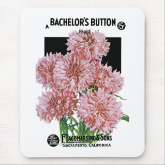 Bachelor's Button Seed Packet Label Mouse Pad