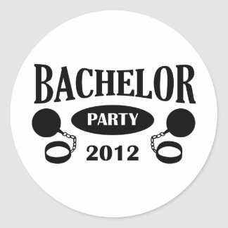 Bachelor's degree party classic round sticker