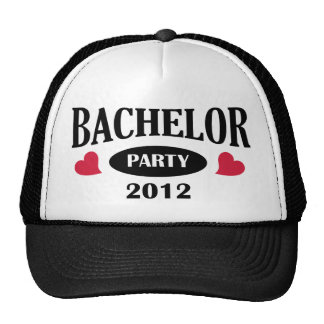 Bachelor's degree party mesh hats