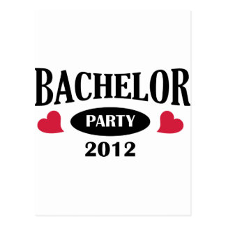 Bachelor's degree party post card