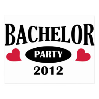 Bachelor's degree party post cards