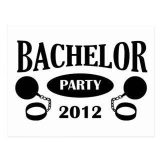 Bachelor's degree party postcard