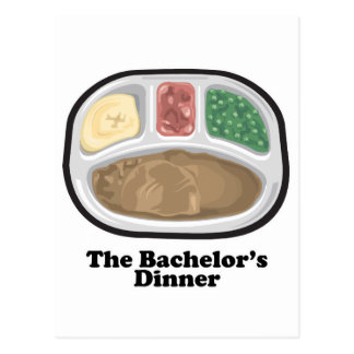 Bachelor's Dinner Tv Frozen Entree Postcard