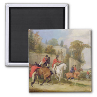 Bachelor's Hall, The Meet, 1835 (oil on canvas) Magnet