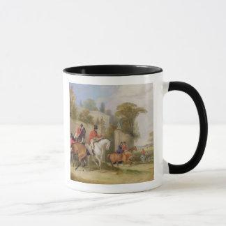 Bachelor's Hall, The Meet, 1835 (oil on canvas) Mug