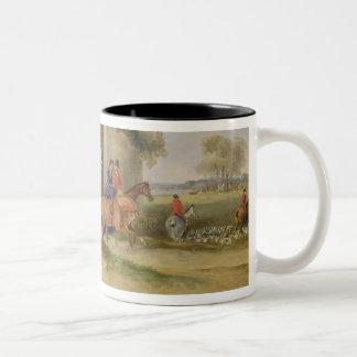 Bachelor's Hall, The Meet, 1835 (oil on canvas) Two-Tone Coffee Mug