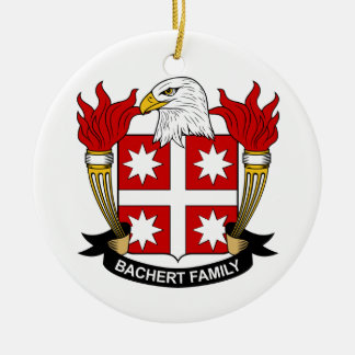 Bachert Family Crest Ceramic Ornament