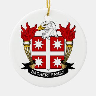 Bachert Family Crest Ceramic Ornament