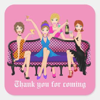 Bachlorette Party thank you sticker