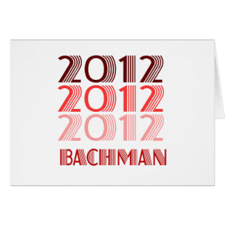 BACHMAN 2012 VINTAGE GREETING CARD