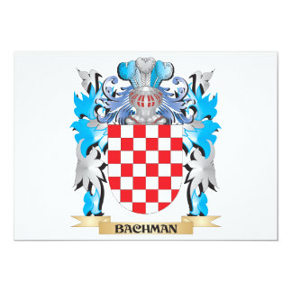 Bachman Coat of Arms 5x7 Paper Invitation Card