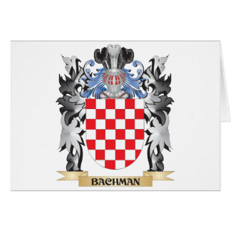 Bachman Coat of Arms - Family Crest Greeting Card