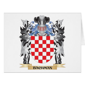 Bachman Coat of Arms - Family Crest Large Greeting Card