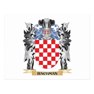 Bachman Coat of Arms - Family Crest Postcard