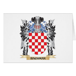Bachman Coat of Arms - Family Crest Stationery Note Card