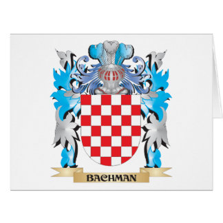 Bachman Coat of Arms Large Greeting Card