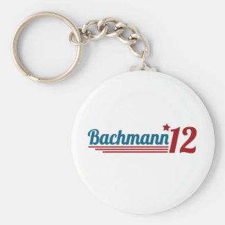 Bachmann '12 basic round button keychain