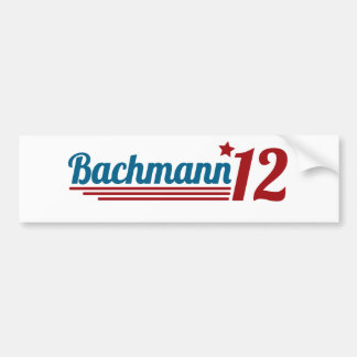 Bachmann '12 bumper sticker